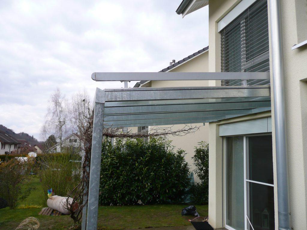 Vordach Stahl verzinkt